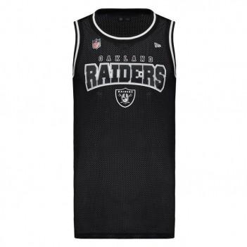 Regata New Era NFL Oakland Raiders Preta e Branca