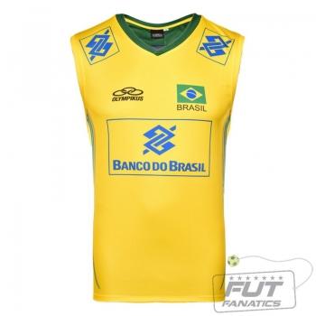 Regata Olympikus Brasil Vôlei CBV 2014 Amarela