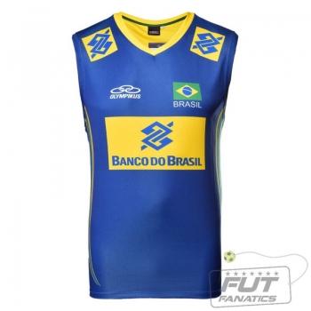 Regata Olympikus Brasil Vôlei CBV 2014 Azul