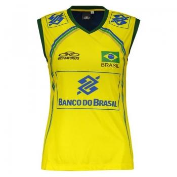 Regata Olympikus Brasil Vôlei CBV 2014 Feminina Amarela