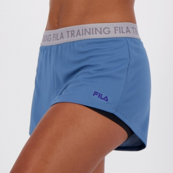 Short Fila Trains Elastic Feminino Azul