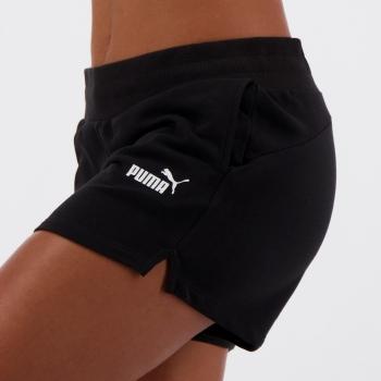 Short Moletom Puma Essentials Sweat Feminino Preto