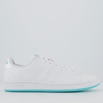 Tênis Adidas Advantage Base Feminino Branco e Verd