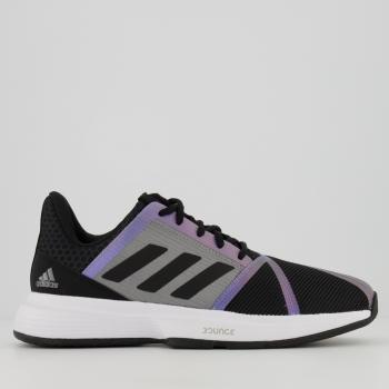 Tênis Adidas CourtJam Bounce Preto e Cinza