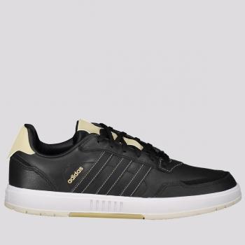 Tênis Adidas Courtmaster Preto e Bege