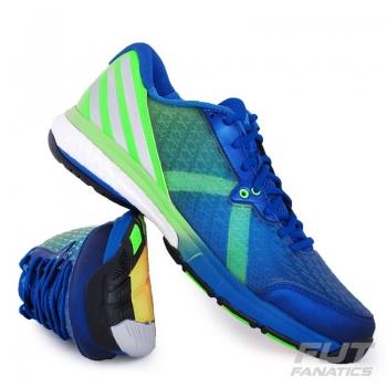 Tênis Adidas Energy Volley Boost 2 Azul e Verde