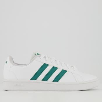 Tênis Adidas Grand Court Base Branco e Verde