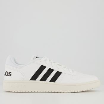 Tênis Adidas Hoops 2.0 Branco e Preto