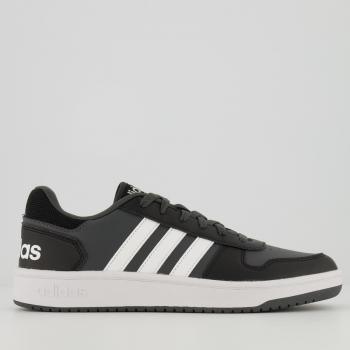 Tênis Adidas Hoops 2.0 Preto e Chumbo