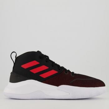 Tênis Adidas Own The Game Preto e Vermelho