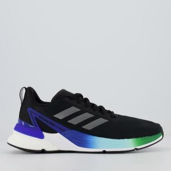 Tênis Adidas Response Super Boost Preto e Azul