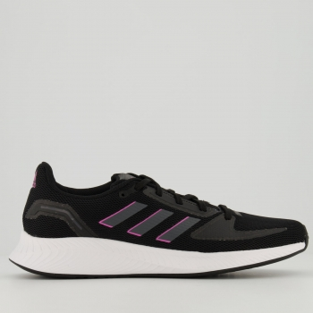 Tênis Adidas Runfalcon 2.0 Feminino Preto e Rosa