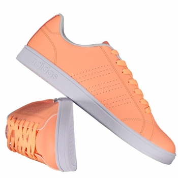 Tênis Adidas Vs Advantage Clean Feminino Salmão