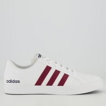 Tênis Adidas VS Pace Branco e Vinho