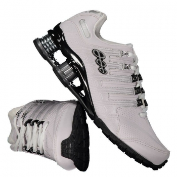 Tênis Black Free 53800 Branco e Prata