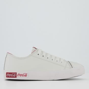 Tênis Coca Cola Blend Leather Feminino Branco