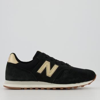 Tênis New Balance 373 Feminino Preto e Dourado