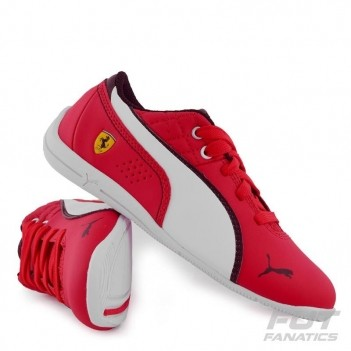 Tênis Puma Scuderia Ferrari Drift Cat 6 L Nm Ps Infantil