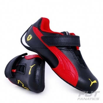 Tênis Puma Scuderia Ferrari Future Cat Leather 10 V Infantil Preto