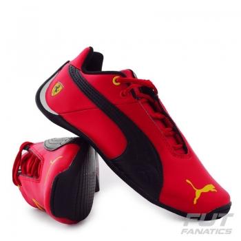 Tênis Puma Scuderia Ferrari Future Cat Leather 10 Ps Infantil
