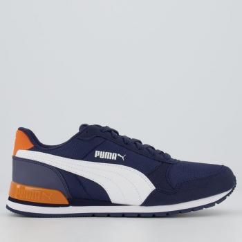 Tênis Puma ST Runner V2 Mesh Juvenil Azul Marinho