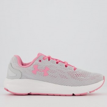 Tênis Under Armour Charged Pursuit 2 Feminino Cinza e Rosa