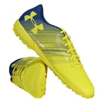 Chuteira Under Armour Spotlight TF Society Amarela