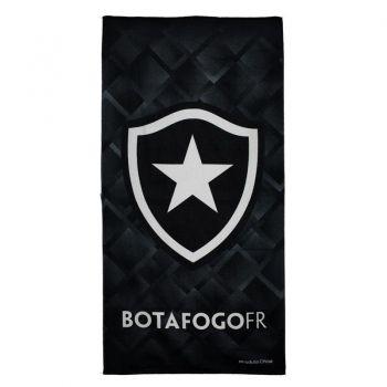 Toalha De Banho Bouton Veludo Botafogo Escudo Preto