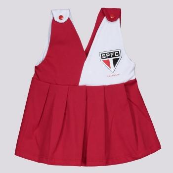 Vestido São Paulo IV Infantil Feminino Vermelho