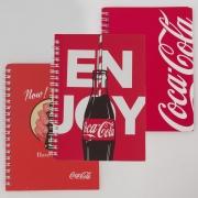 Brinde Caderno Coca Cola Volta às Aulas Vermelho