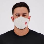 Máscara Flamengo Cinza e Vermelha