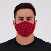 Máscara Flamengo Vermelha e Preta