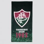 Toalha Bouton Fluminense Veludo Verde