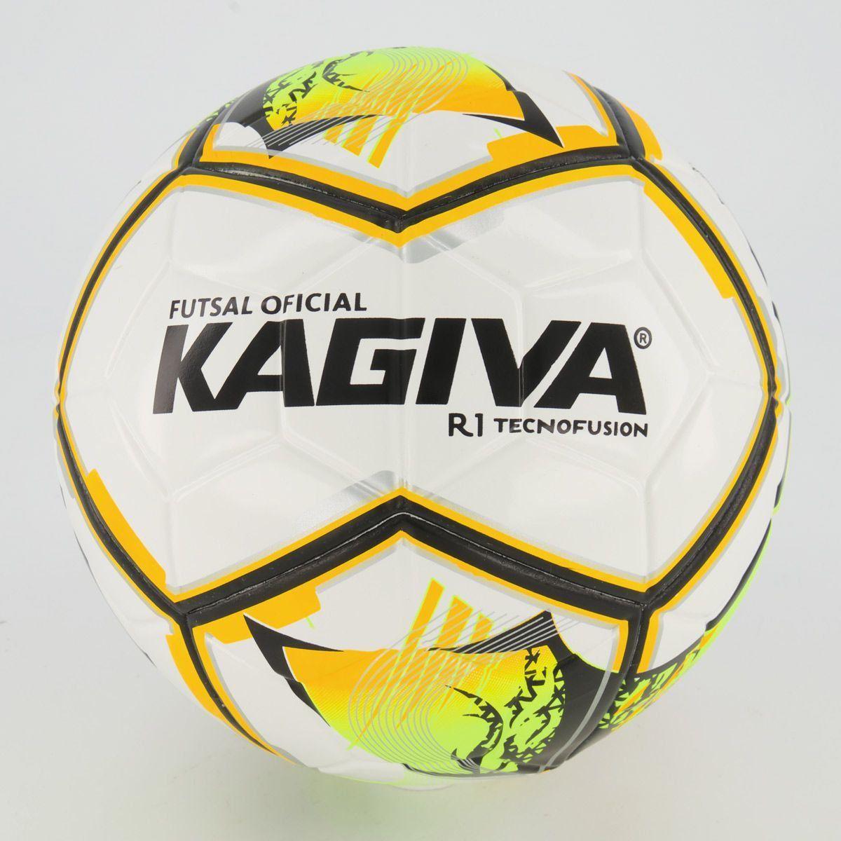 Cupom de desconto Bola Kagiva R1 Futsal Branca e Laranja