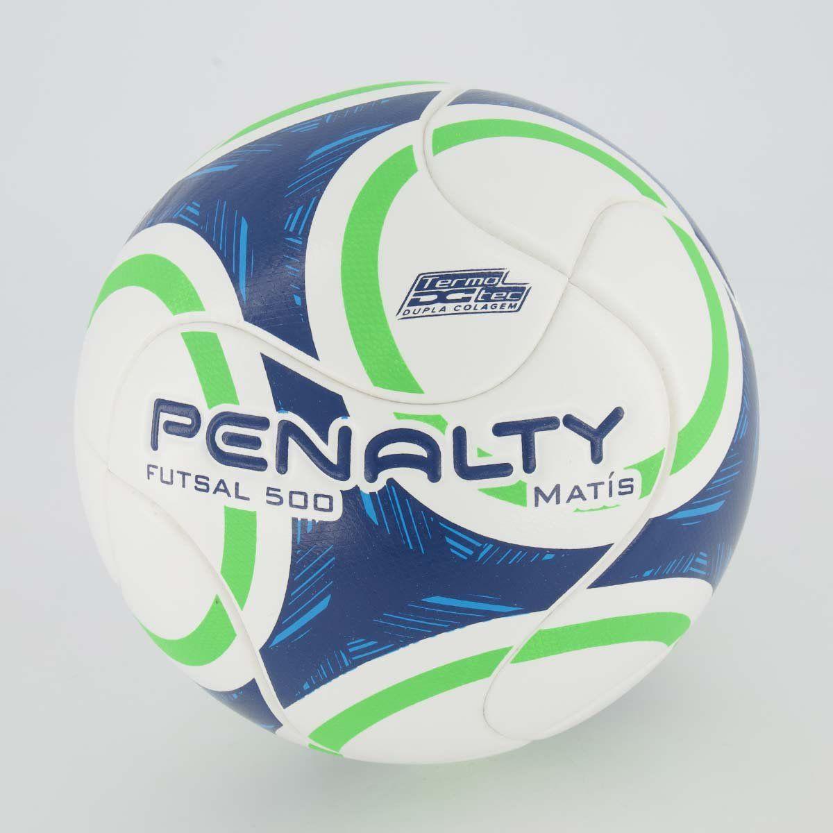 Cupom de desconto Bola Penalty Matís 500 IX Futsal Azul e Verde
