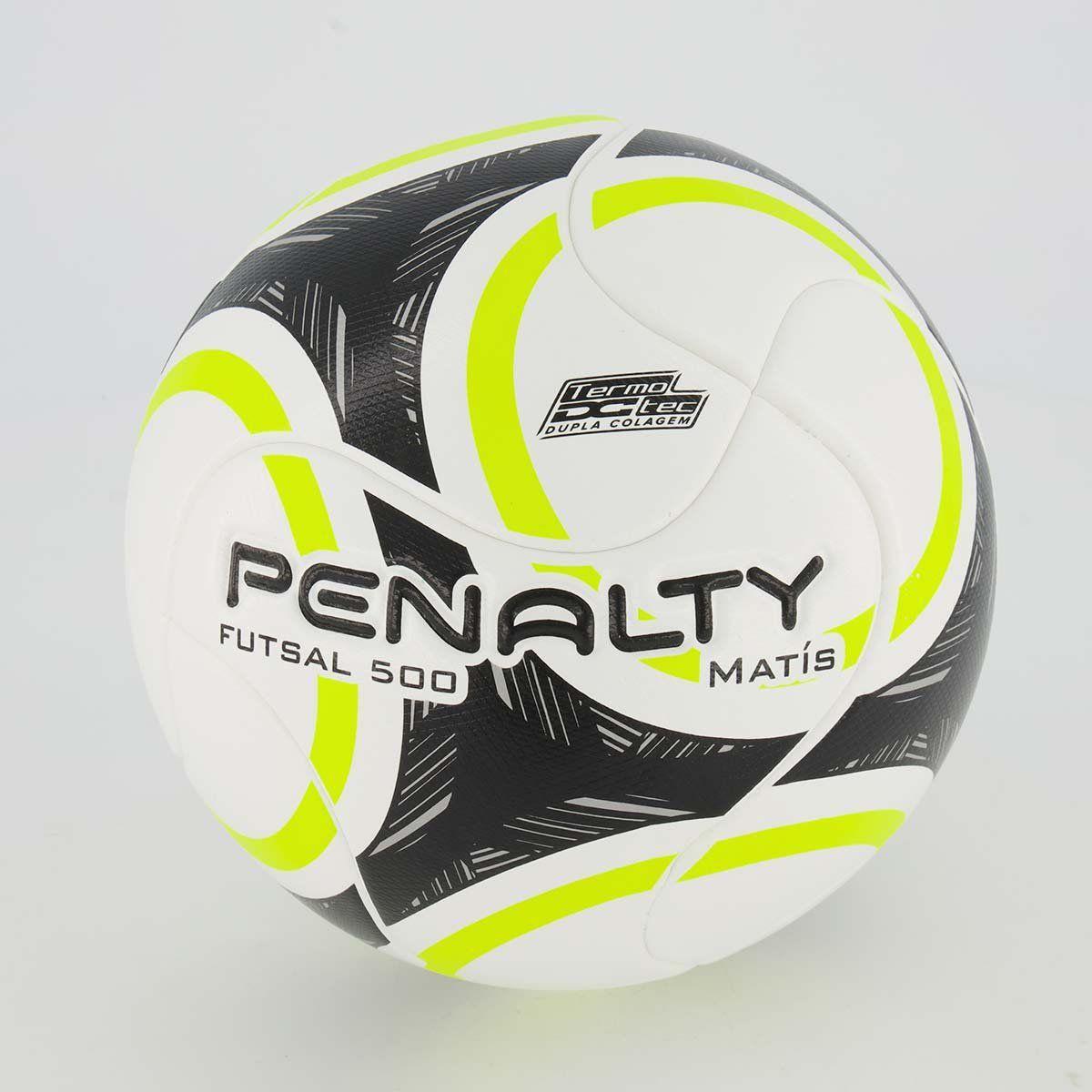 Cupom de desconto Bola Penalty Matís 500 IX Futsal Preta e Amarela