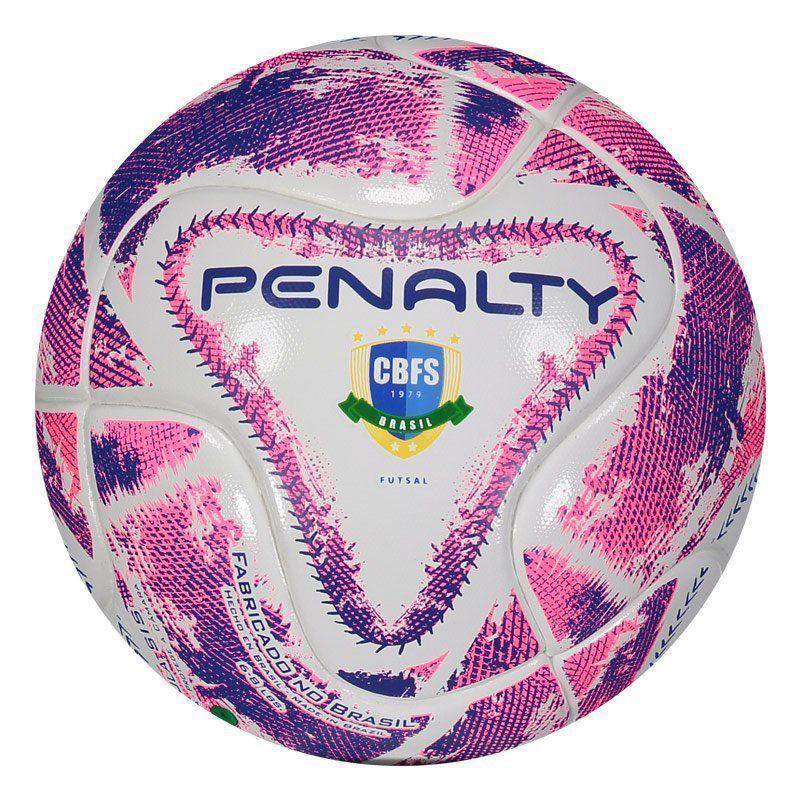 Cupom de desconto Bola Penalty Max 100 lX Futsal Branca e Roxa