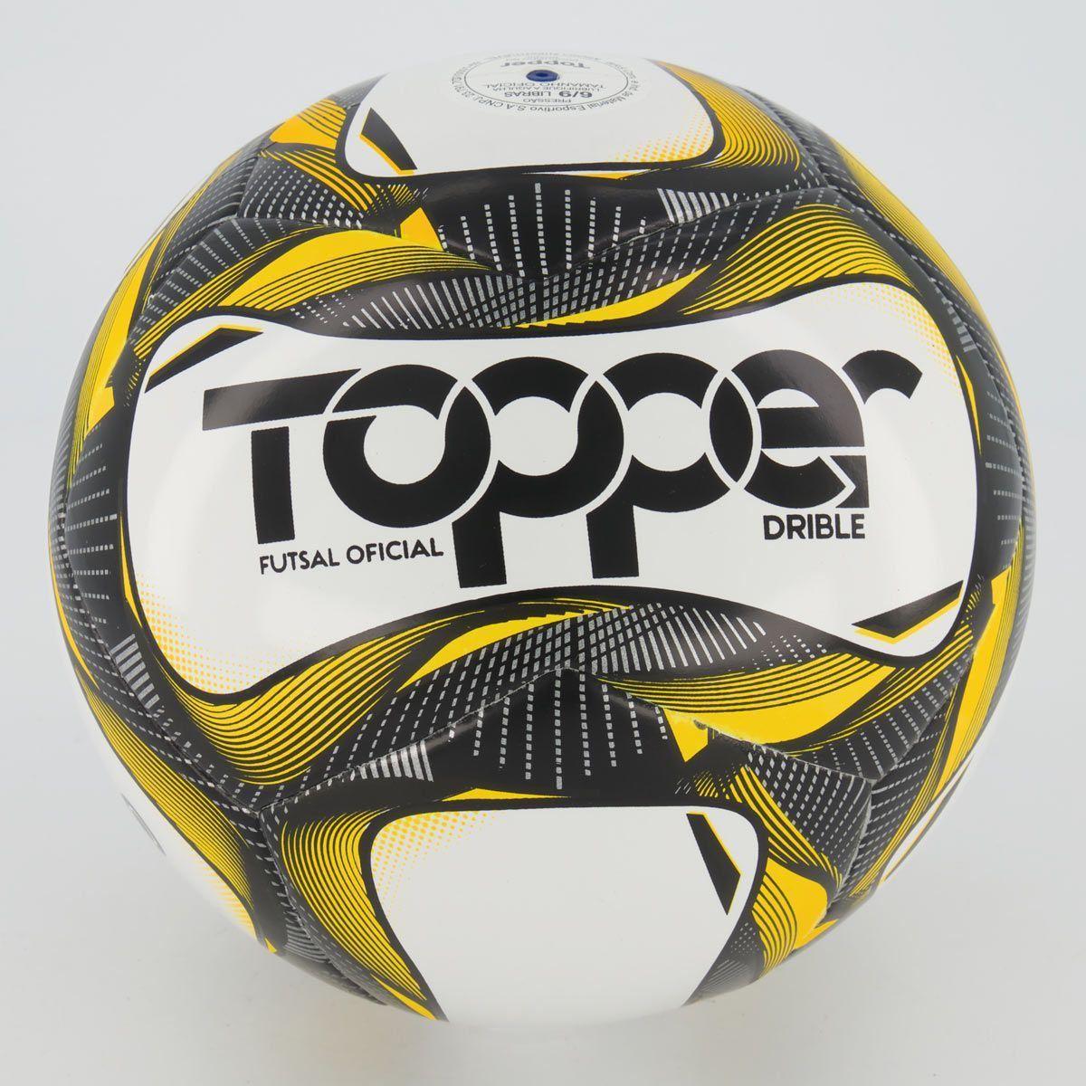 Cupom de desconto Bola Topper Drible Futsal Preta e Amarela