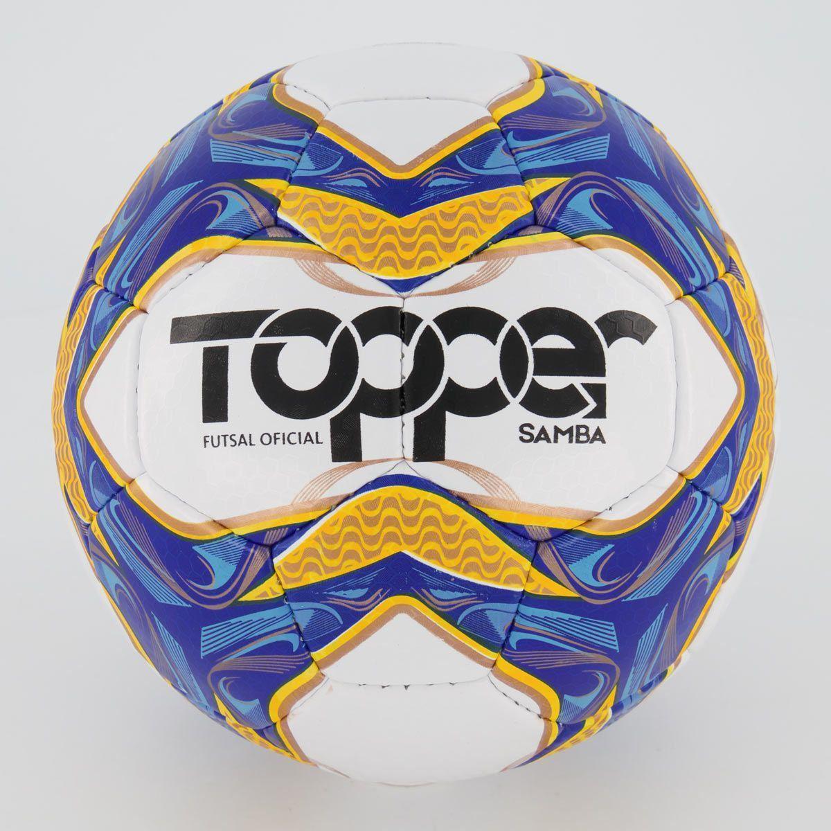 Cupom de desconto Bola Topper Samba II Futsal Branca e Laranja
