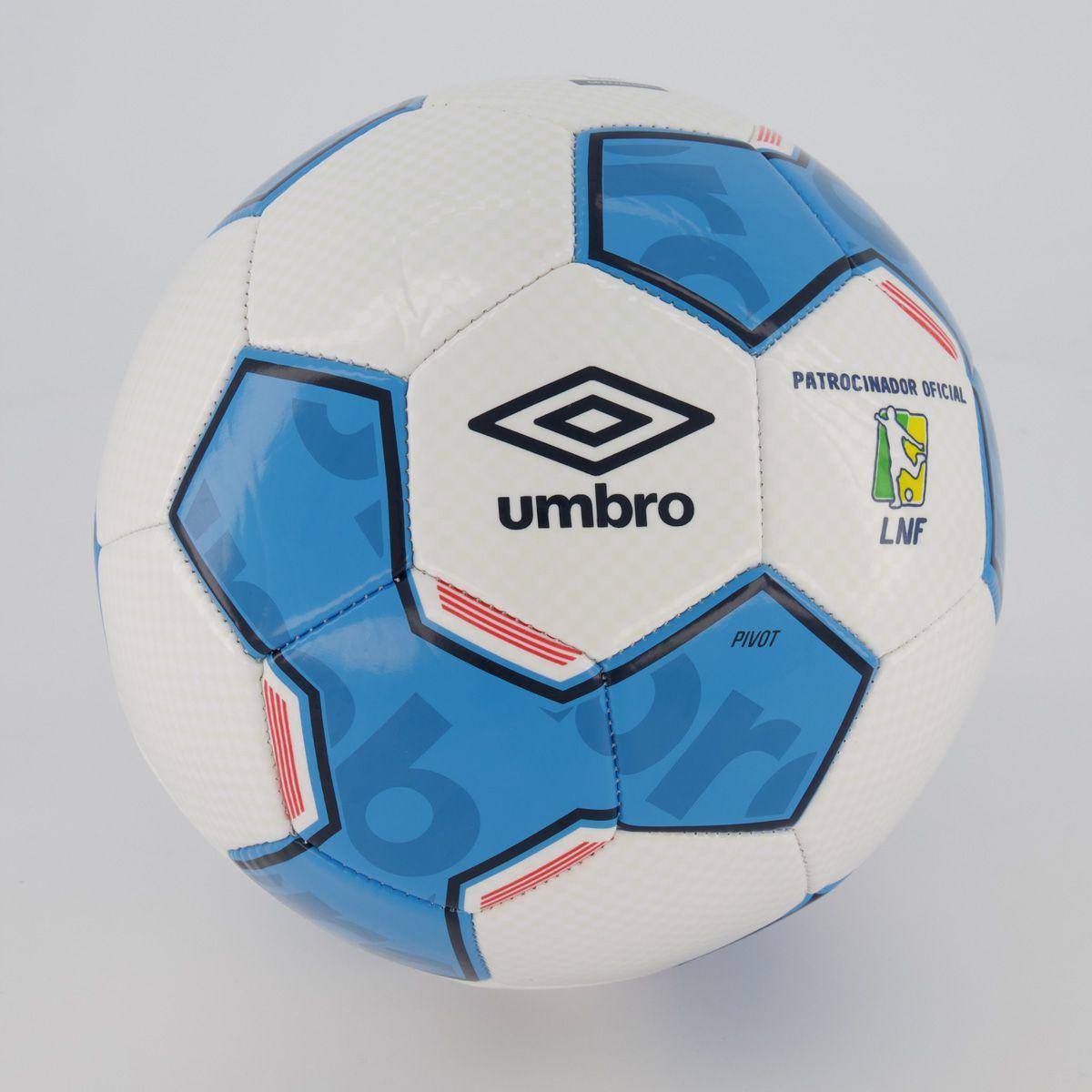 Fut Fanatics Bola Umbro Pivot Supporter Futsal Branca e Azul