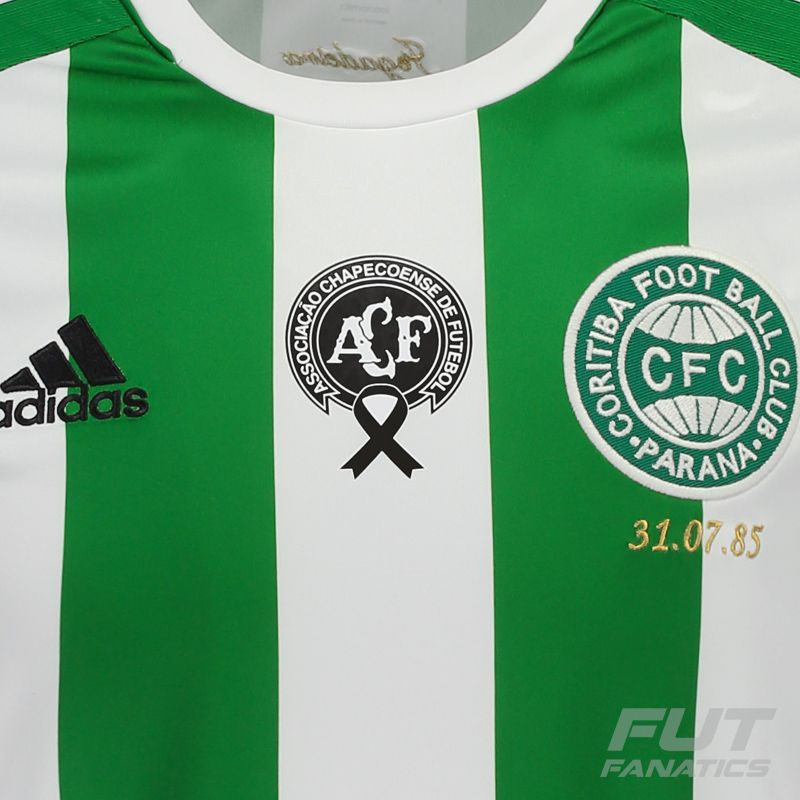 93574b3f88d55 Camisa Adidas Coritiba II 2016 Memória Chapecoense - FutFanatics