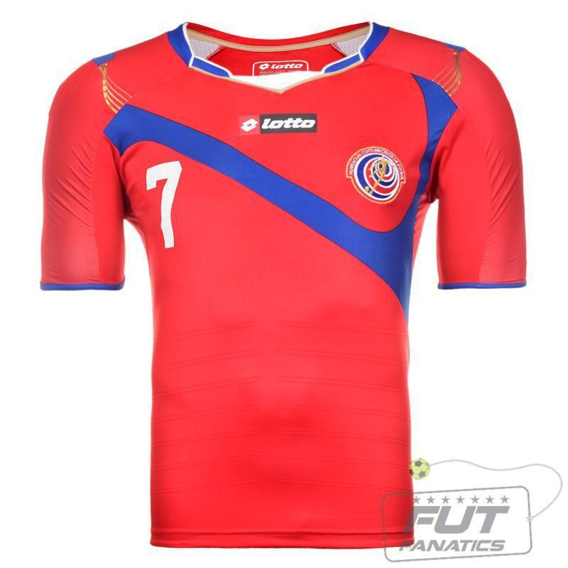 edcd6fbda2 Camisa Lotto Costa Rica Home 2014 - FutFanatics