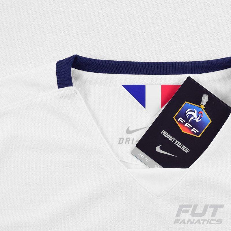 Camisa Nike França Away 2016 - FutFanatics cdfd8c6b8879f