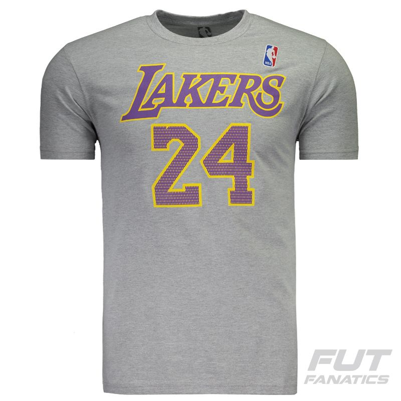 Camiseta NBA Los Angeles Lakers 24 Bryant Cinza - FutFanatics 899fa9ae2d7