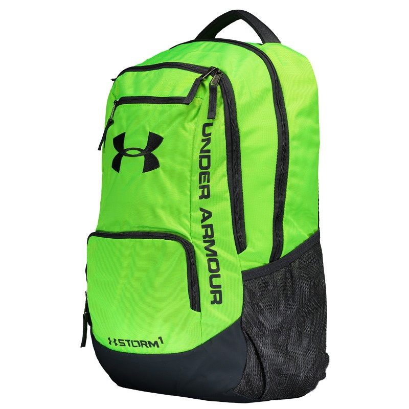 0ec791e25 Mochila Under Armour Hustle II Verde - FutFanatics