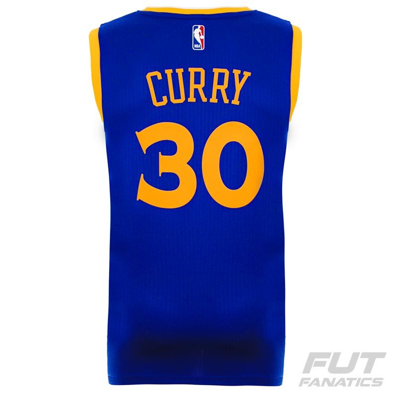 8e5b28504 Regata Adidas NBA Golden State Warriors Road 2016 30 Curry Swingman -  FutFanatics