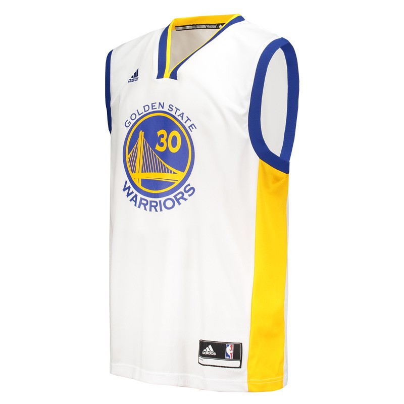 010f01d84f47 Regata Adidas NBA Golden State Warriors 30 Curry - FutFanatics