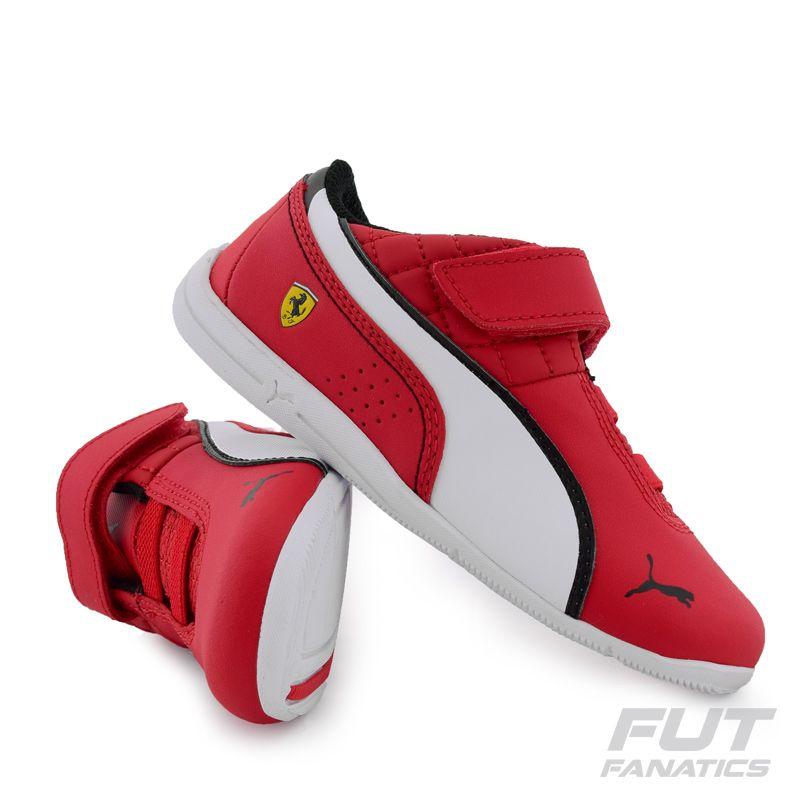 TTênis Puma Scuderia Ferrari Drift Cat 6 L Mn V Infantil Vermelho -  FutFanatics 6ea1c2054cfa1
