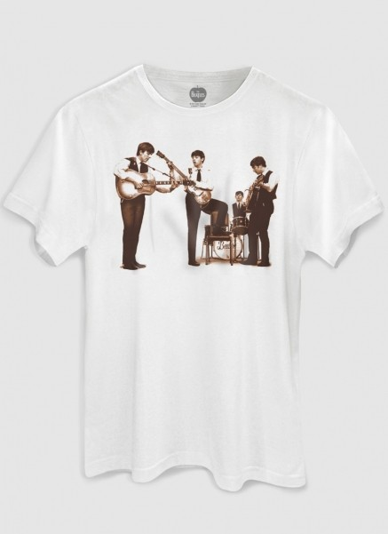 Camiseta Unissex The Beatles Picture Sepia