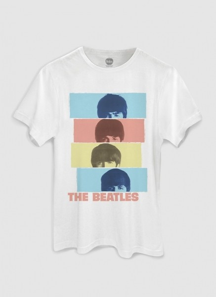 Camiseta Unissex The Beatles Headshot